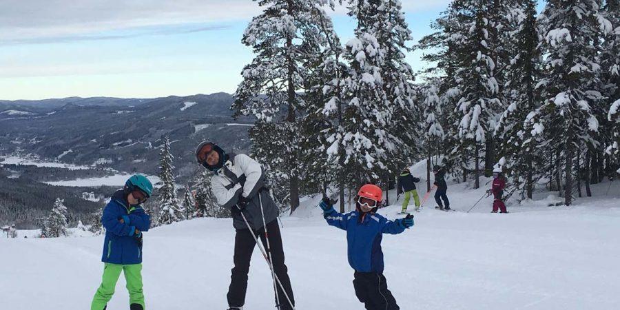 drengene på ski